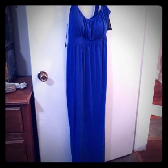Kim Rogers Dresses & Skirts - Kim Roger's PL blue Maxi Dress NWT